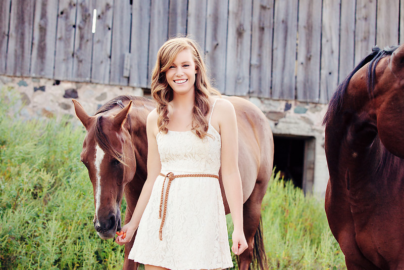 Senior Photos with Horses James Stokes Photography