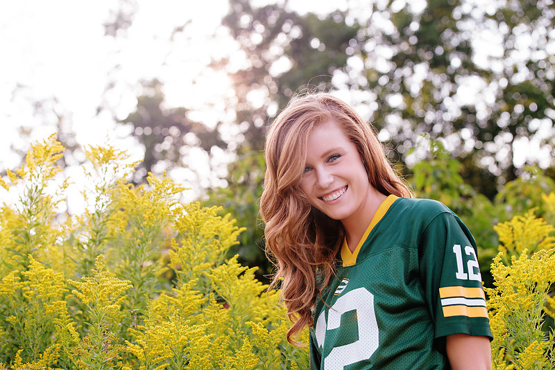 Wisconsin Packer Senior Portrait James Stokes Photography