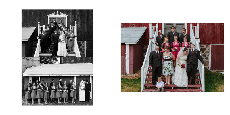 Willow Pond Bed and Breakfast Wisconsin Wedding black and white photos