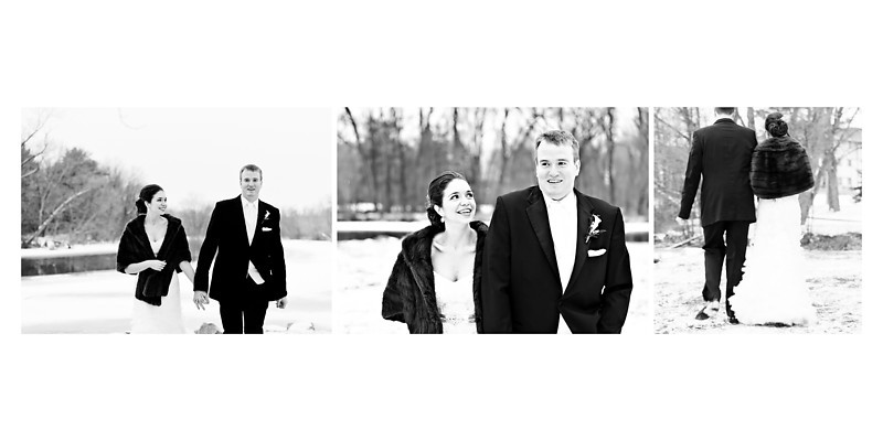 Winter Bridal Party Grand Theater Wausau Wedding Photographer