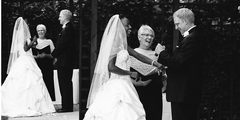 The Florian Gardens Outdoor Wedding  Eau Claire Wisconsin Wedding Photographer  vows