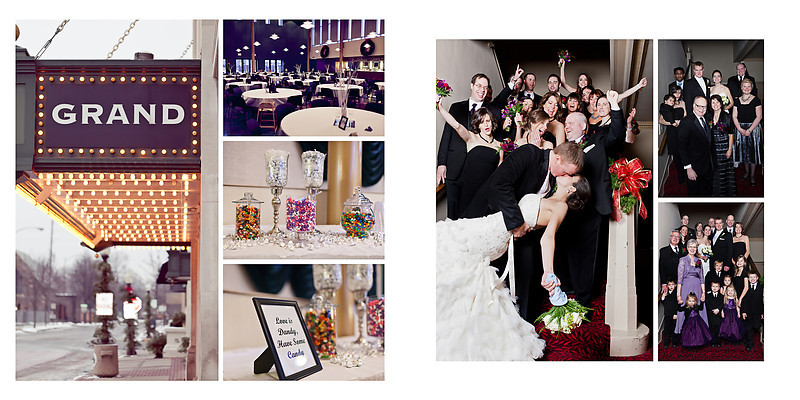 Grand Theater Wausau Wedding Photographer Candy at wedding with donuts